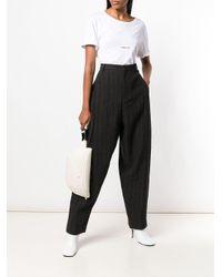Pantaloni a righe di Miaoran in Black