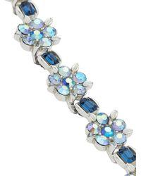 Susan Caplan 1950's フローラルネックレス Blue