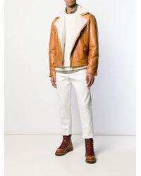 Jean droit classique Brunello Cucinelli pour homme en coloris White