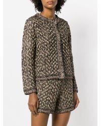 M Missoni Black Fantasy Knit Cardigan