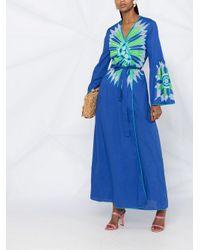 Emilio Pucci カフタン ドレス Blue