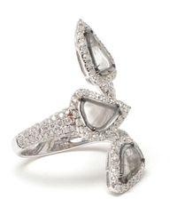 Saqqara - Metallic 'trinity' Diamond Ring - Lyst