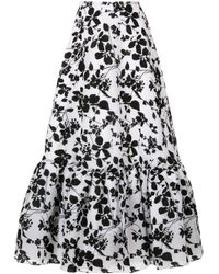 Falda midi Seville Bambah de color White