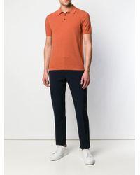 メンズ Roberto Collina ニット ポロシャツ Orange
