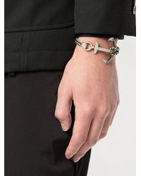 Saint Laurent - Metallic Sea Anchor Bracelet - Lyst