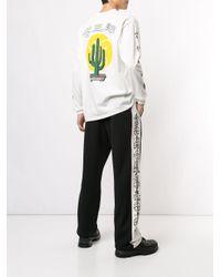 メンズ KOZABURO Cactus Bonzai スウェットシャツ White