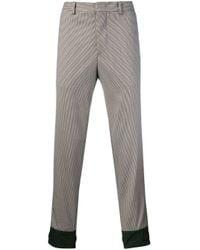 Pantalones Techno de cuadros Prada de hombre de color Gray