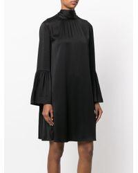 Fendi Black Flared Sleeve Knee Length Dress