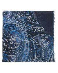 Écharpe imprimée en cachemire Kiton pour homme en coloris Blue