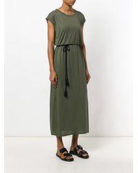 Woolrich Green Belted Jersey Maxi Dress