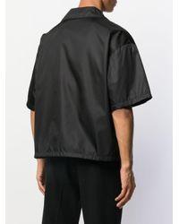 メンズ Prada ショートスリーブ シャツジャケット Black