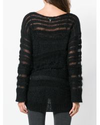 Dondup Black Distressed Long-sleeve Sweater