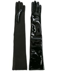 Manokhi - Black High Shine Gloves - Lyst