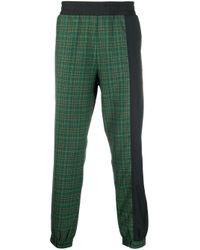 メンズ Vivienne Westwood チェック トラックパンツ Green