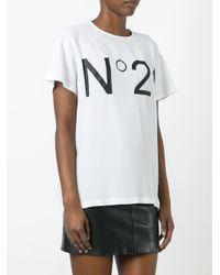 N°21 ロゴプリント Tシャツ White