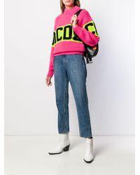 Maglione con logo di Gcds in Pink
