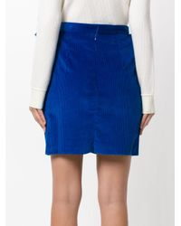 Maison Rabih Kayrouz - Blue Structured Skirt - Lyst