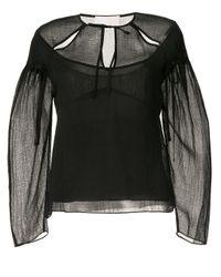 Blusa con design cut-out di 3.1 Phillip Lim in Black
