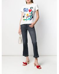 7 For All Mankind クロップドジーンズ Blue