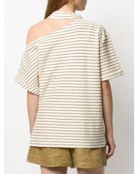 Erika Cavallini Semi Couture ストライプ Tシャツ Natural