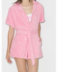 All Things Mochi テリークロス ロンパース Pink