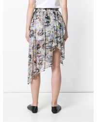 Vivienne Westwood Anglomania - Multicolor Asymmetric Printed Skirt - Lyst