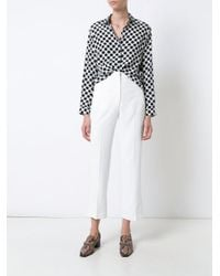 Khaite - White Cropped Trousers - Lyst