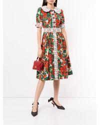 Dolce & Gabbana スカラップ シャツドレス Red