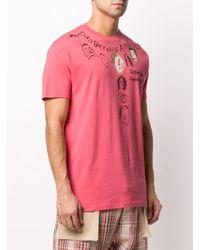 メンズ Vivienne Westwood グラフィック Tシャツ Pink