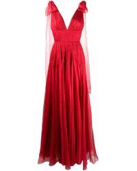 Maria Lucia Hohan Lissa シルク プリーツドレス Red