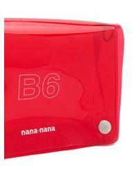 NANA-NANA クリア ショルダーバッグ Red