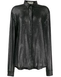 Chemise à effet métallisé Saint Laurent en coloris Black
