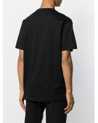 T-shirt à logo imprimé Fila pour homme en coloris Black