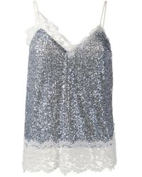Pinko Blue Squinned Top