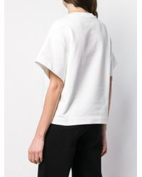 Boutique Moschino White Pierced Short Sleeved Sweatshirt