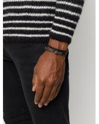 Плетеный Браслет Saint Laurent для него, цвет: Black