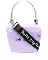 Palm Angels ロゴ ハンドバッグ Purple