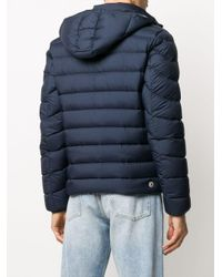 メンズ Colmar キルティング フーデッドジャケット Blue
