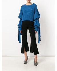 Stella McCartney Blue Cropped Sweater