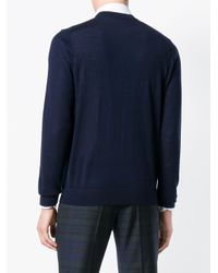 PS by Paul Smith Blue Crew Neck Sweater for men