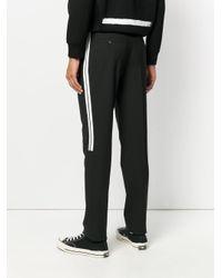 Neil Barrett - Black Stripe Detail Slim-fit Trousers for Men - Lyst