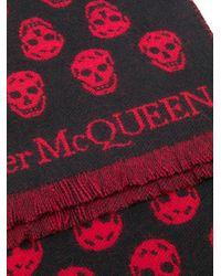 Sciarpa con stampa di Alexander McQueen in Black