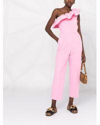MSGM ワンショルダー ジャンプスーツ Pink