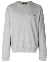 Calvin Klein - Gray Brooke Shields Embroidered Logo Sweatshirt for Men - Lyst