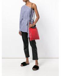 Sonia Rykiel Red Eyelet Shoulder Bag