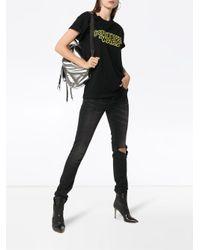 Moschino Black Couture Wars Logo Cotton T Shirt