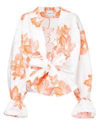 floral kimono shirt - White Bambah Shop For Cheap Online 4oTBRO
