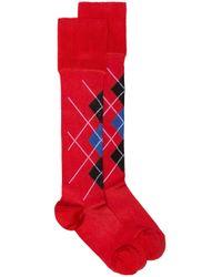 Носки С Узором Versace, цвет: Red