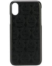 メンズ Ferragamo ガンチーニ Iphone Xs ケース Black