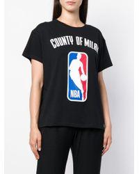 Logo NBA T-shirt Marcelo Burlon en coloris Black
